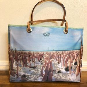 Anya Hindmarch blue label handbag